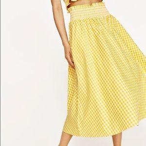 Zara gingham skirt and crop top